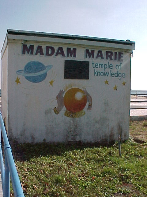 The actual Madam Marie\'s fortune telling booth